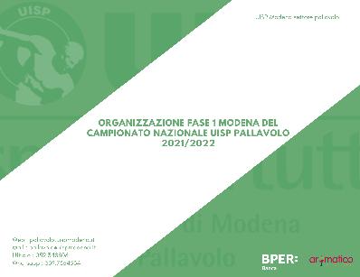 Organizzazione Fase 1 2022 Modena - Qualificazione a Fase Regionale e Nazionale