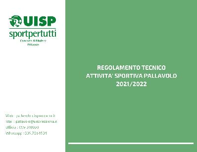 Regolamento Tecnico Fase 1 Modena - 2022