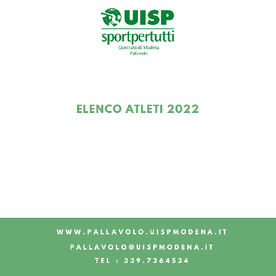 Elenco Atleti - 2022