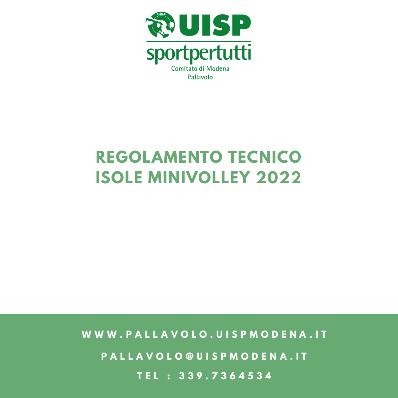 Regolamento Isole Minivolley - 2022