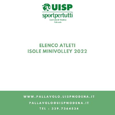 Elenco Atleti Isole Minivolley - 2022
