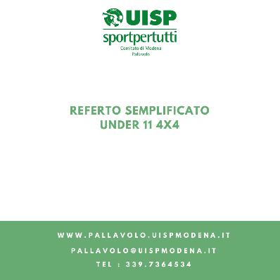 Referto Semplificato Under 11 4x4
