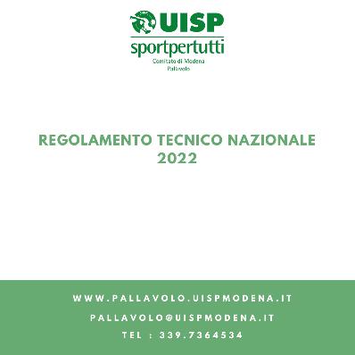 Regolamento Tecnico Nazionale - Agg.to Maggio 2021