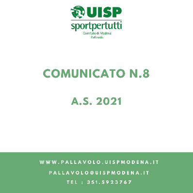 Comunicato N.8 - 2021