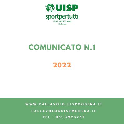 Comunicato N.1 - 2022