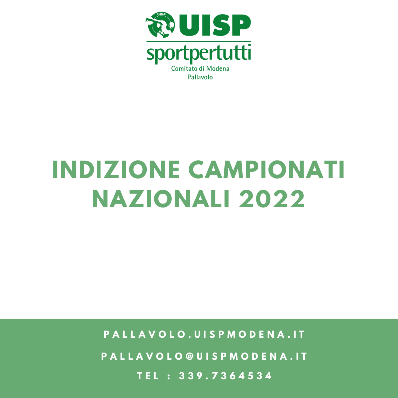 Indizione Campionato Nazionale - 2022
