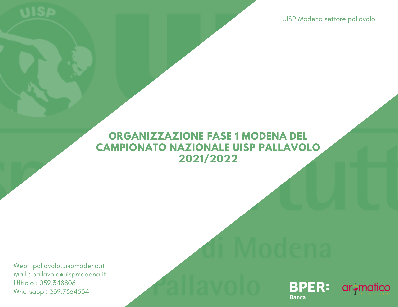 Indizione Campionati 2022 - Fase 1 Modena