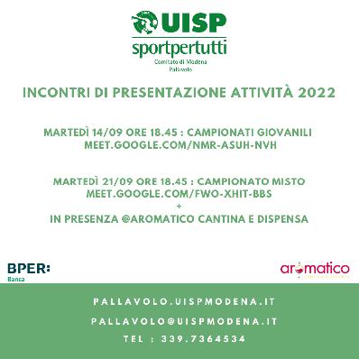 Riunione di Presentazione Attività 2022
