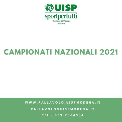 Campionati Nazionali 2021 - I Risultati delle Nostre Squadre